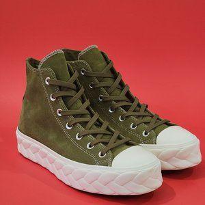 Converse CTAS Hi Platform Lift Cable Green Sneaker Shoes NWT